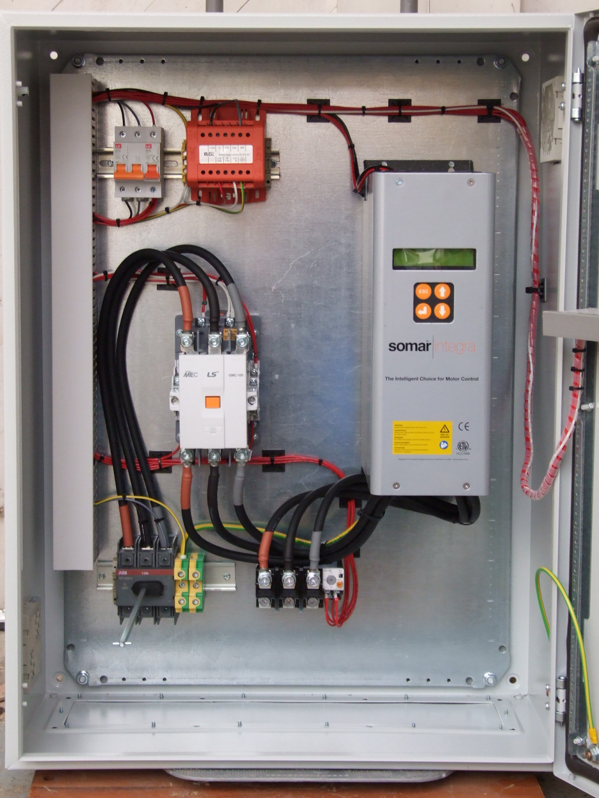 Regler engineering business solutions product for Motor starter control panel